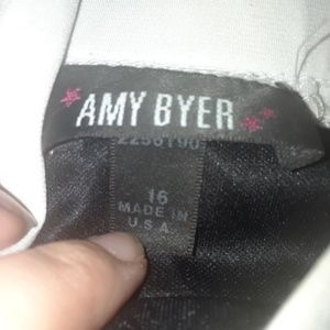 amy byer black and white dress